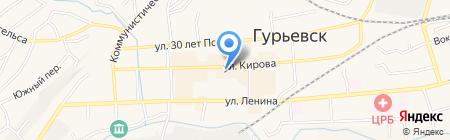 Ритм на карте Гурьевска