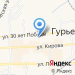 ЗАГС г. Гурьевска и Гурьевского района на карте Гурьевска