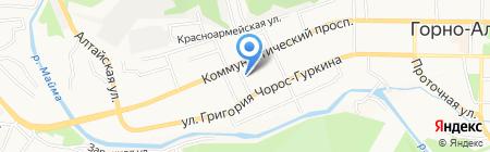 Караван на карте Горно-Алтайска