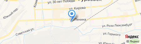 За рулём на карте Гурьевска
