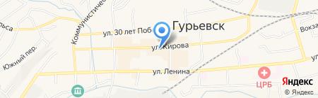 Касса взаимопомощи на карте Гурьевска