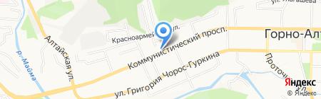Нефертити на карте Горно-Алтайска