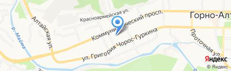 Средняя общеобразовательная школа №9 на карте Горно-Алтайска