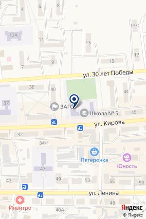 МОУ ШКОЛА № 23 на карте Гурьевска
