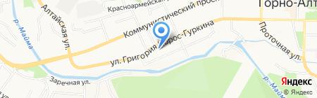 Солнечная Сторона на карте Горно-Алтайска
