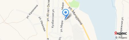 Кузбассэнерго на карте Гурьевска