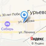 Кузбасская Комиссионная Торговля на карте Гурьевска