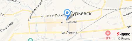 Средняя общеобразовательная школа №5 на карте Гурьевска