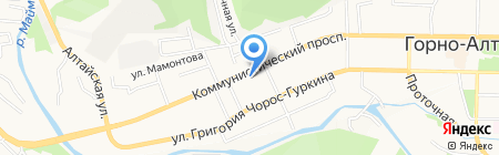 Багира на карте Горно-Алтайска