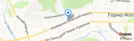 Доставкин на карте Горно-Алтайска