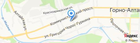 Киоск по ремонту обуви на карте Горно-Алтайска