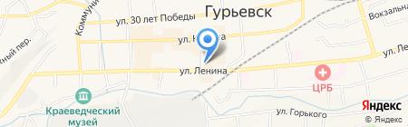Блик на карте Гурьевска