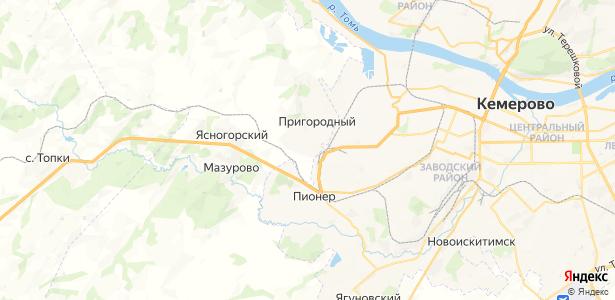 Пригородный на карте