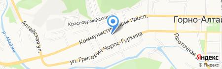 Домашний на карте Горно-Алтайска