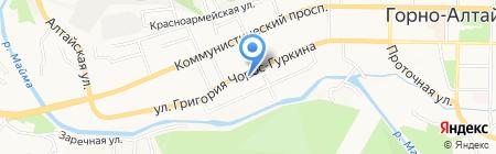 Банк Зенит на карте Горно-Алтайска