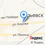 Школьник на карте Гурьевска
