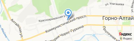 Центр здоровья на карте Горно-Алтайска