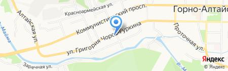 Старый вокзал на карте Горно-Алтайска