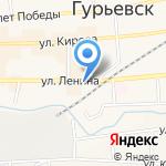 Межрайонный отдел судебных приставов по г. Гурьевску на карте Гурьевска