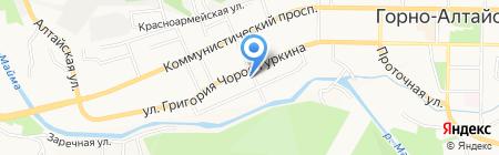 УПРАВДОМ на карте Горно-Алтайска