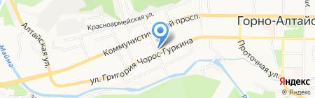Вечерняя школа на карте Горно-Алтайска
