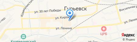 ТИР на карте Гурьевска
