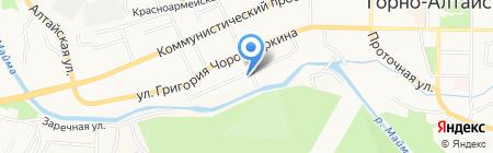 Европеец на карте Горно-Алтайска