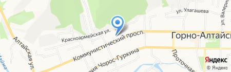 ГАГУ на карте Горно-Алтайска
