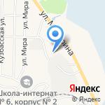 Кемеровский кооперативный техникум на карте Гурьевска
