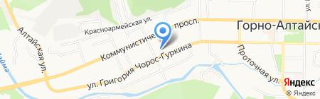 Национальный музей Республики Алтай им. А.В. Анохина на карте Горно-Алтайска