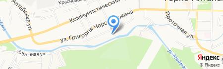 Отдел ГИБДД МВД по Республике Алтай на карте Горно-Алтайска