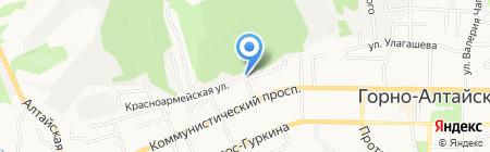 Учебно-производственная ветеринарная станция на карте Горно-Алтайска