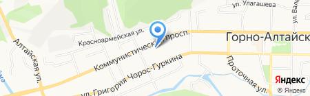 Техас на карте Горно-Алтайска