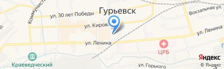 Отдел надзорной деятельности г. Гурьевска и Гурьевского района на карте Гурьевска
