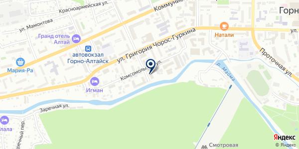 Алтай-Кадастр на карте Горно-Алтайске