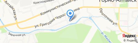 Хан-Алтай на карте Горно-Алтайска