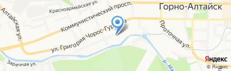 Министерство образования на карте Горно-Алтайска