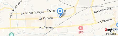 Банкомат Совкомбанк ПАО на карте Гурьевска
