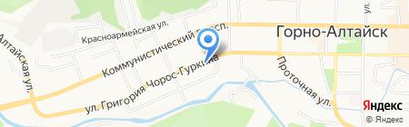 Настена-Сластена на карте Горно-Алтайска