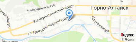 Детский сад №10 на карте Горно-Алтайска