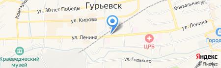 3 отряд ФПС по Кемеровской области на карте Гурьевска