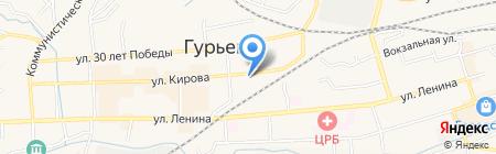 Алтайские молочные продукты на карте Гурьевска