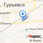 Новосибирская птицефабрика-Кузбасс на карте Гурьевска