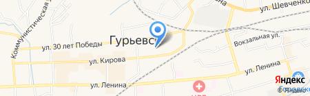 Детский сад №10 Теремок на карте Гурьевска