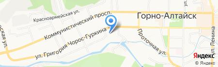 Дорожное радио на карте Горно-Алтайска