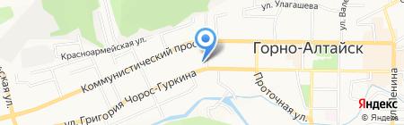 Алтайдын Чолмоны на карте Горно-Алтайска