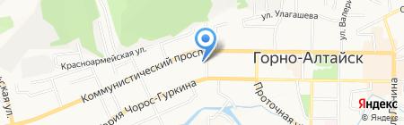Проспект на карте Горно-Алтайска