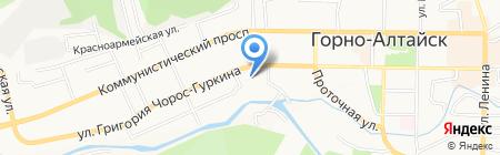 Мишель на карте Горно-Алтайска
