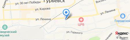 Светлячок на карте Гурьевска