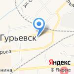 Мировые судьи г. Гурьевска и Гурьевского района на карте Гурьевска